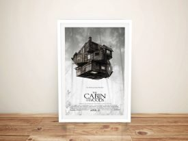 the cabin in the woods Framed Wall Art
