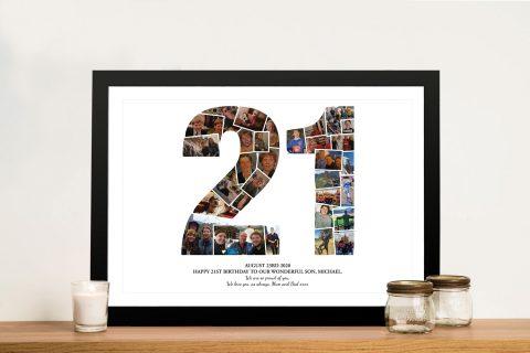 21 Birthday photo collage Framed Art