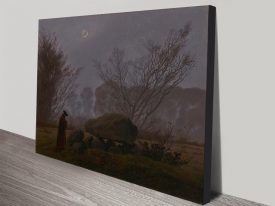 Buy a Canvas Print of A Walk at Dusk