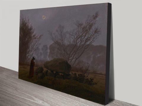 Buy a Canvas Print of A Walk at Dusk