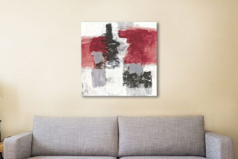 Red & Black Abstract Art Home Decor Ideas AU