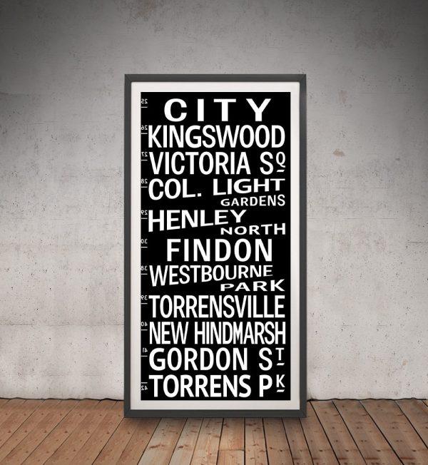 Vintage Adelaide Tram Scroll Framed