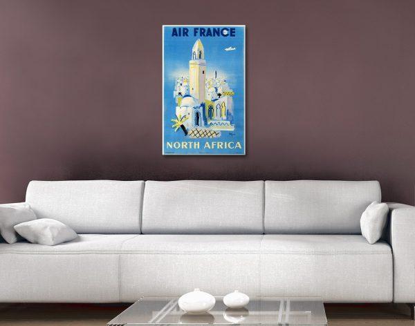 Vintage Travel Poster Prints Home Decor AU