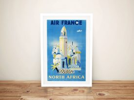 Air France Vintage Travel Poster Wall Art