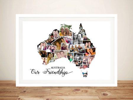 Australia Custom Collage Map Wall Art