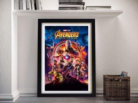 Framed Avengers Infinity War Movie Poster
