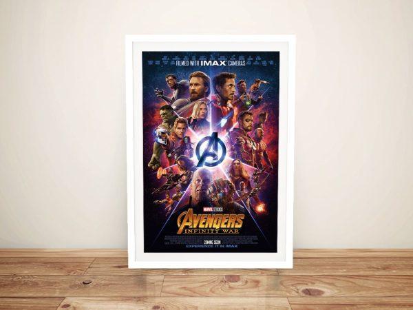 Framed IMAX Poster for Avengers Infinity War