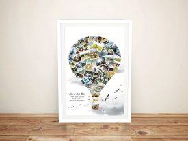 Balloon Photo Collage Print on Canvas