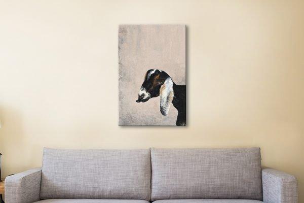 Billy Goat Canvas Artwork