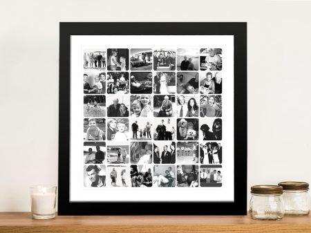 Black & White Mosaic Photo Collage Artwork