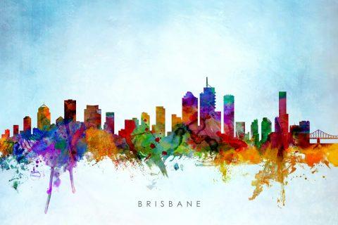 Brisbane Skyline Michael Tompsett Prints Online