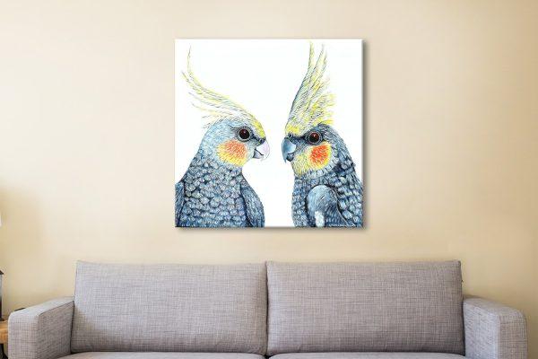 Cheeky Cockatiels Linda Callaghan Canvas Art