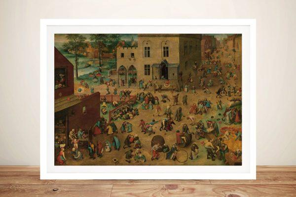Framed Print of Children's Games Online