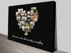 Personalised Heart Collage Canvas Artwork