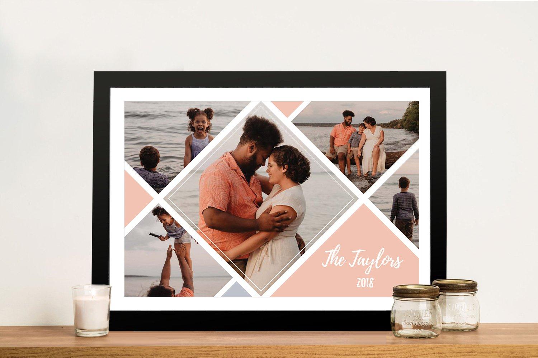 Quality Framed Custom Photo Diamond Collage