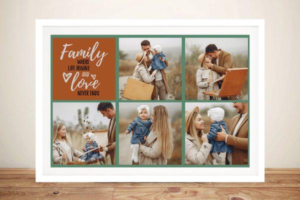 Buy a Framed Custom Family Collage Print