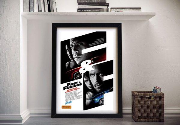 Fast & Furious Framed Movie Poster Prints AU