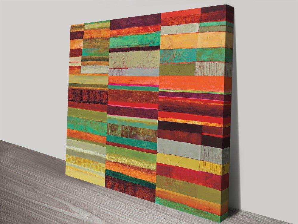 Fields Colourful Jane Davies Wall Art