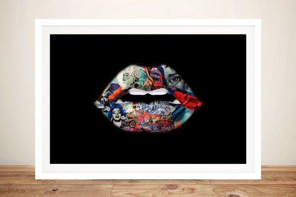 Buy Be Human Graffiti Lips Artwork