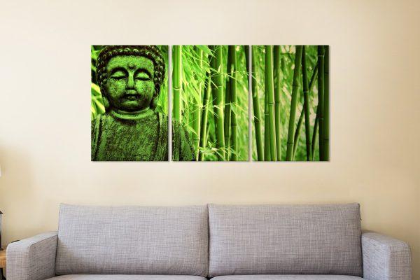 Green Buddha 3-Piece Art Set