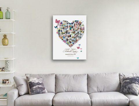 Ready to Hang Custom Heart Wall Art AU