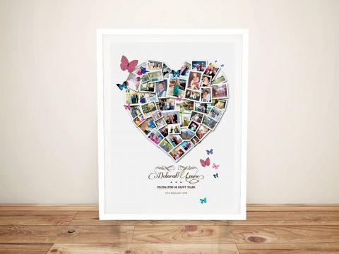 Buy a Framed Custom Heart Photo Collage