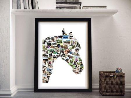 Custom Shape Photo Collage Canvas Art