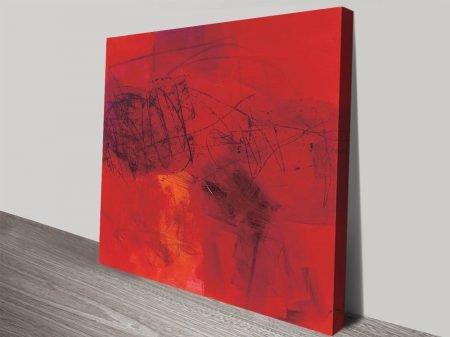 Hot Jane Davies Warming Abstract Art
