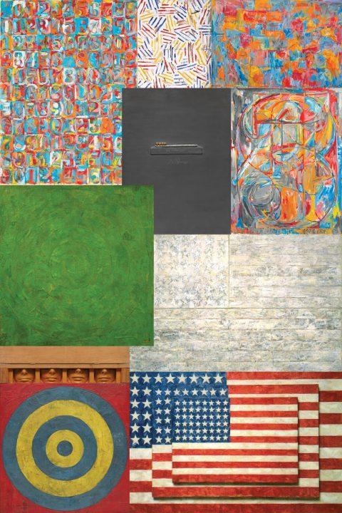 Jasper Johns Collage Canvas Art Print