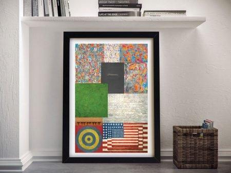 Jasper Johns Collage Canvas Art