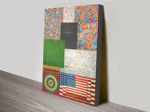 Jasper Johns Collage canvas print