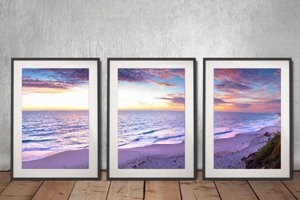 Jindalee Sunset 3 Piece Framed Art