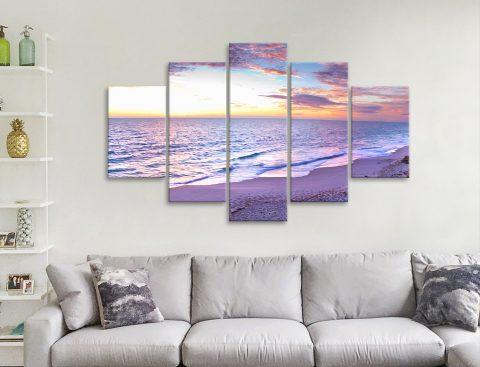 Jindalee Sunset 5 Panels Canvas Prints