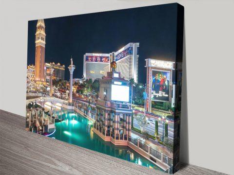 Las Vegas Strip Print on Canvas Cheap Online