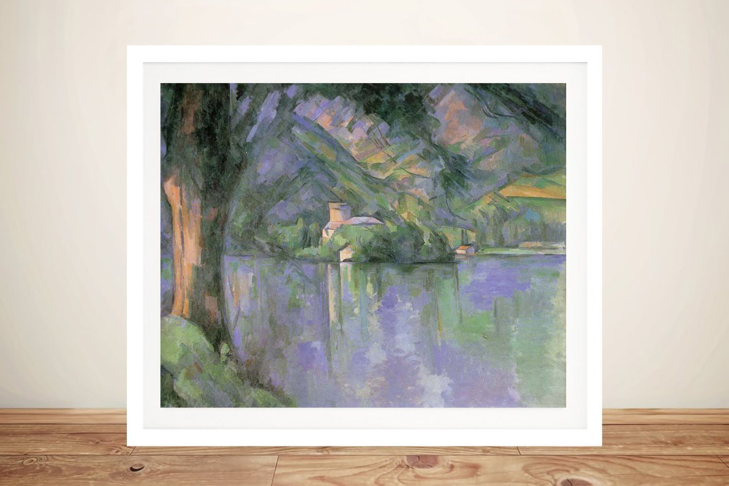 Framed Canvas Print of Lake Annecy for Sale