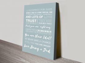 Buy Manifesto for Dads Custom Word Art