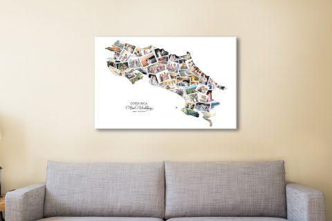 Costa Rica Custom Map Art Home Decor Ideas