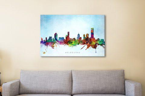 Michael Tompsett Watercolour Skylines Wall Art