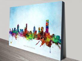 Buy Melbourne Skyline Watercolour Wall Art