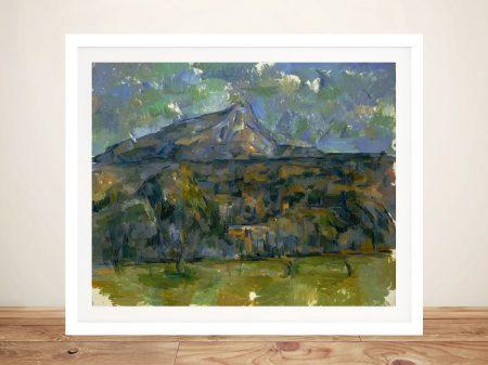 Mont Saint-Victoire Framed Print on Canvas