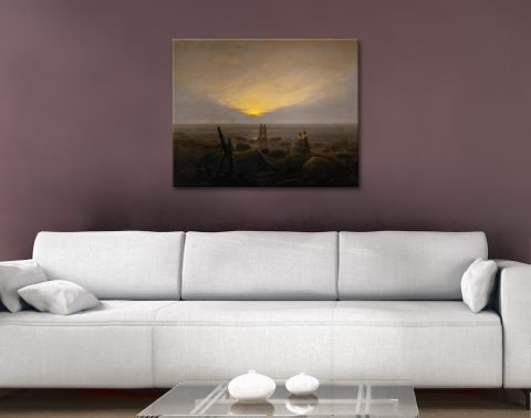 Moonrise Over the Sea Affordable Wall Art