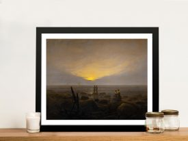 Moonrise Over the Sea Framed Classic Art