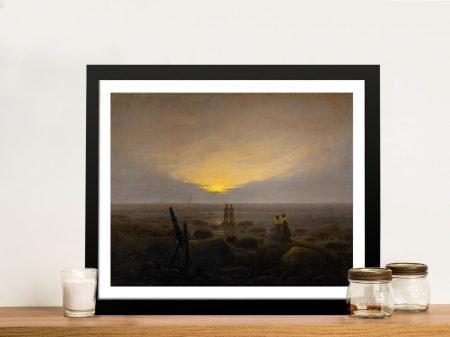 Moonrise Over the Sea Framed Classic Art
