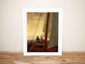 On a Sailing Ship Caspar Friedrich Print