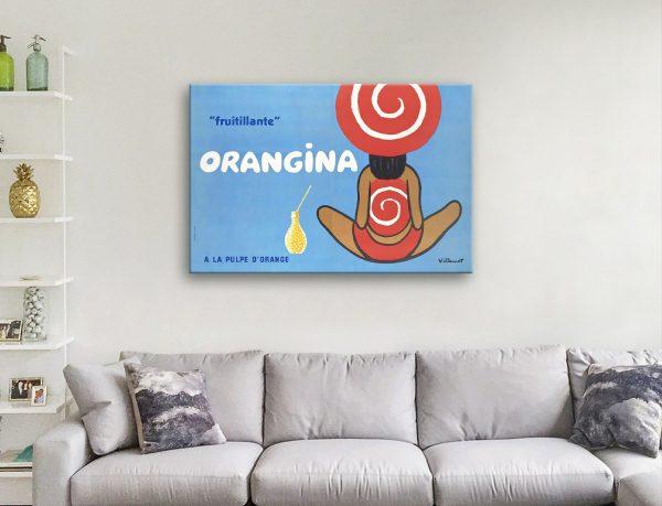 Orangina Vintage Poster Great Gift Ideas Online