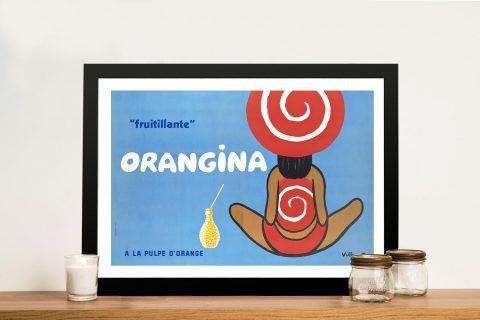 Buy a Framed Vintage Orangina Poster AU