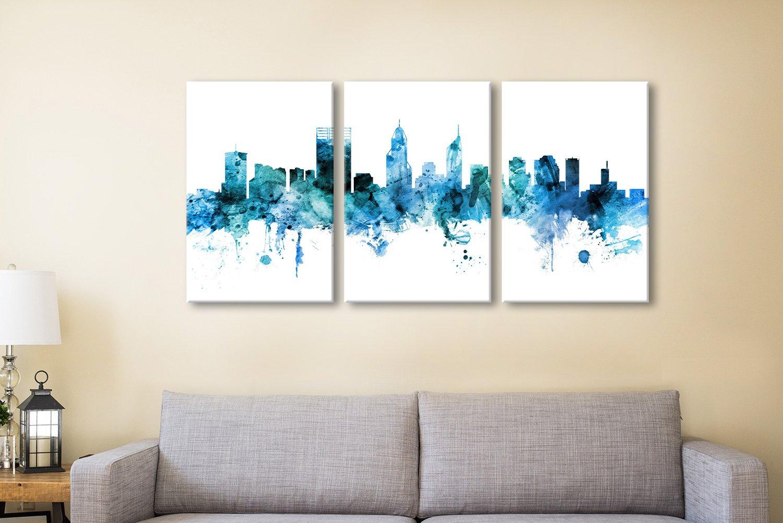 Perth Skyline 3 Piece Art