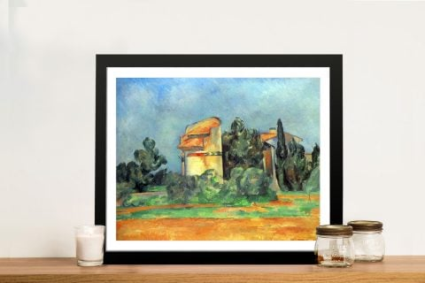 Framed Print of Pigeon Tower by Cezanne