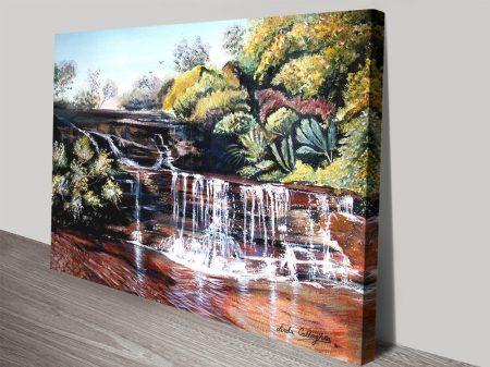 Queen's Cascades Waterfall Canvas Wall Art