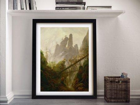 Classic Art Framed Print of Rocky Landscape